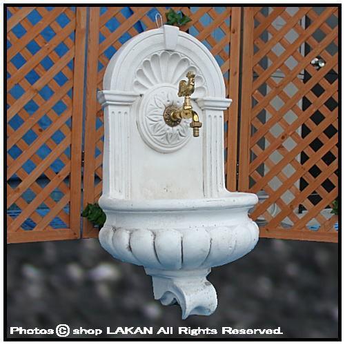 コルベッキオH75cm イタリア製洋風庭園用石造循環式壁泉 / イタルガーデン FO1205