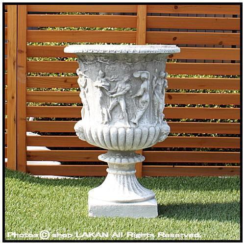 ポラリス花鉢H68cm イタリア製石造 カップ型植木鉢 / イタルガーデン社 VR2885