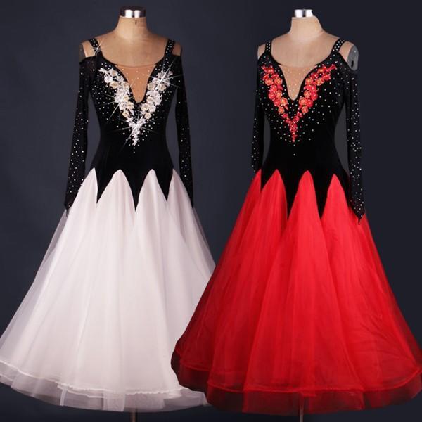 社交ダンス 社交ダンスドレス ダンスウェア インターナショナルダンス 大きい裾 モダンドレス ダンスドレス サイズ指定可