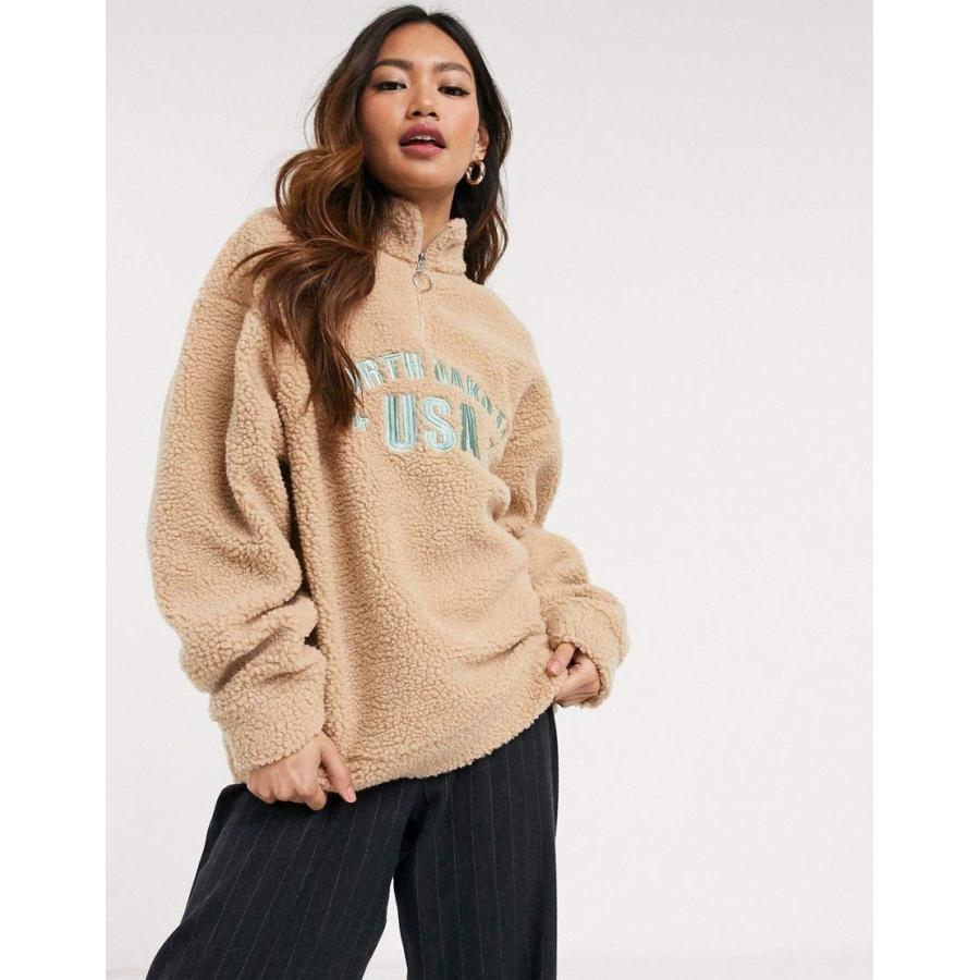 【予約受付中】 デイジーストリート パーカー スウェット トレーナー レディース Daisy Street oversized sweatshirt with no, 渡部商店 どっと米 9a997f56