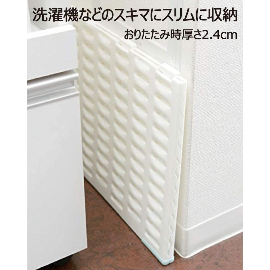 山崎産業 バスマットすのこ サラアンドカラ バスマット干しボード ホワイト M 45×65cmより小さいバスマット対応 171361|shop-nft|05