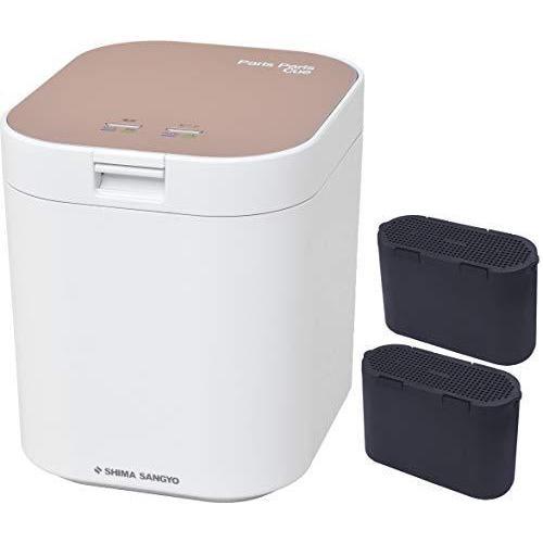 [セット品] 生ごみ減量乾燥機2点セット 島産業 パリパリキュー ピンクゴールド PPC-11-PG、脱臭フィルター PPC-11-AC