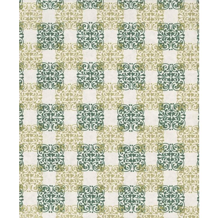 ラッピングペーパー(包装紙) No722(幾何学模様 緑) 四六半才判 500枚