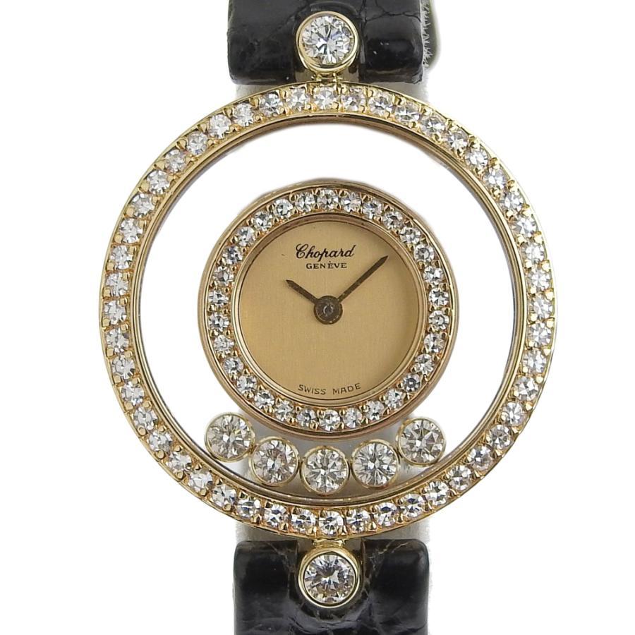 ショパール CHOPARD ハッピーダイヤモンド レディース クォーツ 電池 腕時計 20 3957 約18.5g ベゼルダイヤ ダイヤ5個 本物保証 超美品|shop-takashimaya7
