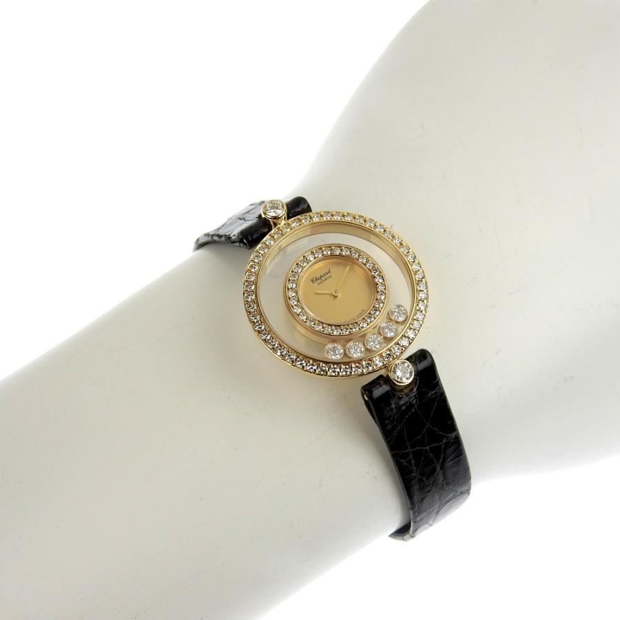ショパール CHOPARD ハッピーダイヤモンド レディース クォーツ 電池 腕時計 20 3957 約18.5g ベゼルダイヤ ダイヤ5個 本物保証 超美品|shop-takashimaya7|07