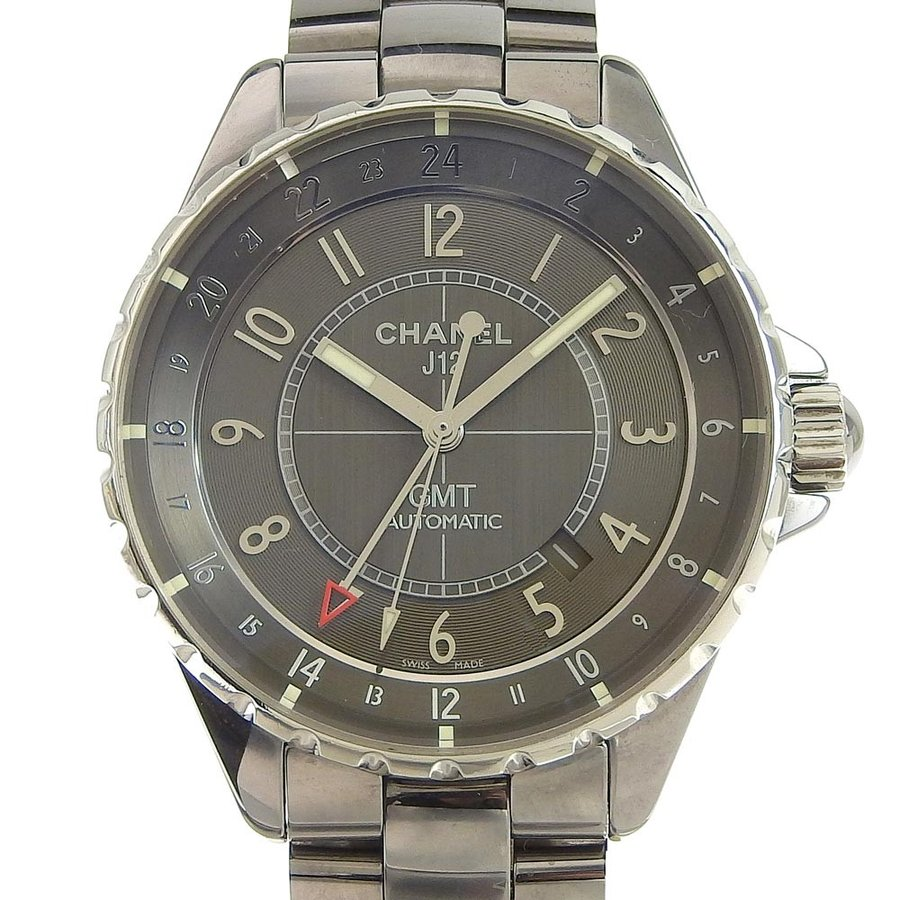 大きな割引 本物保証 保付 超美品 シャネル CHANEL J12 超美品 クロマティックGMT 保付 メンズ 自動巻き 自動巻き オートマ 腕時計 H3099, こめの里本舗:7aaaad22 --- airmodconsu.dominiotemporario.com