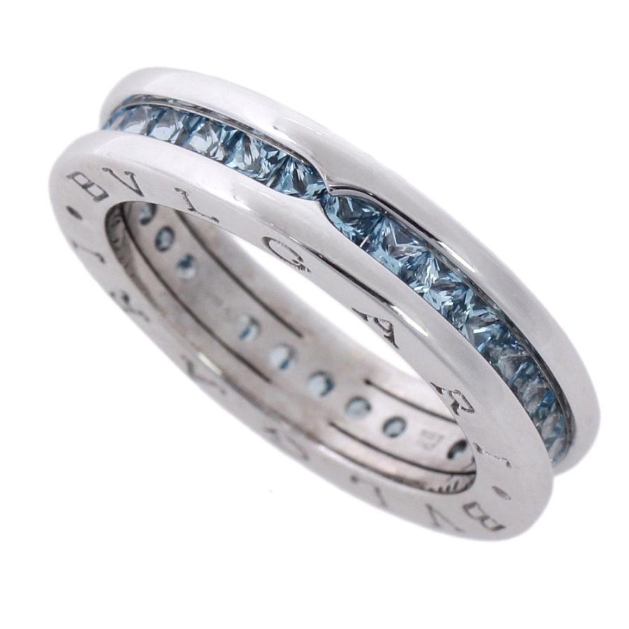 超人気高品質 本物保証 超美品 ブルガリ BVLGARI ビーゼロワンリング 指輪 K18WG ブルートパーズ 7.9g #53 13号, GBS online store be19c73b