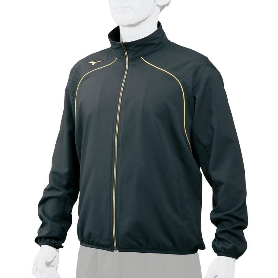 ミズノプロ 野球 トレーニングウエア ウォームアップ クロス シャツ ジャージ 12JC7R0309 ブラック 新製品