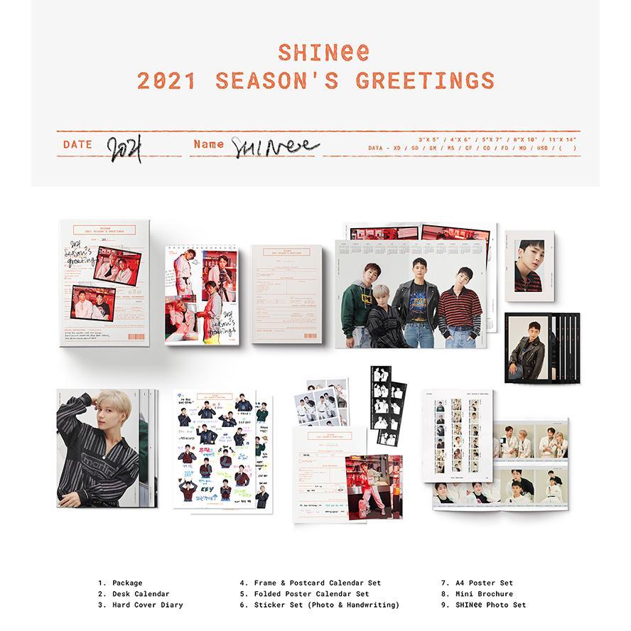 【各ショップONLINE特典付き】【SHINee】【2021 SEASONS GREETINGS】 シーズン グリーティング カレンダー 1次予約 送料無料|shopandcafeo|02