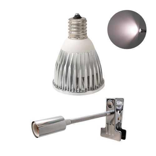 植物育成LED PlantLight5W-W 白色クリップタイプ(SUN-5W-W)+(プラントクリップB)観葉植物 植物栽培ライト アクアリウムライト E17|shopbarrel