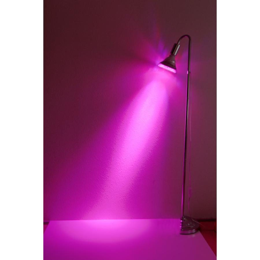 植物育成LED OPT-18W 紫色電球 口径E26(PlantLight18W)観葉植物 植物栽培ライト|shopbarrel|03