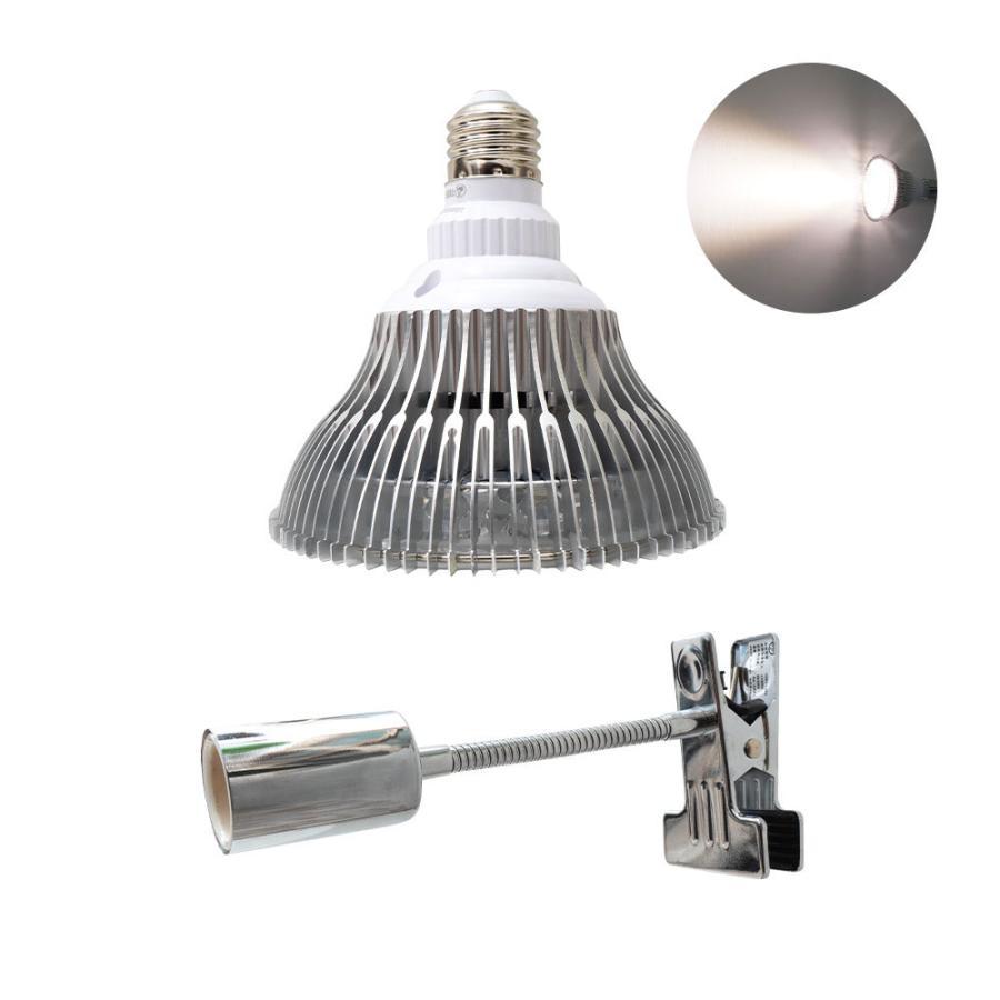 植物育成LED PlantLight18W 白色クリップタイプ(SUN-18W)+(プラントクリップA)観葉植物 植物栽培ライト|shopbarrel