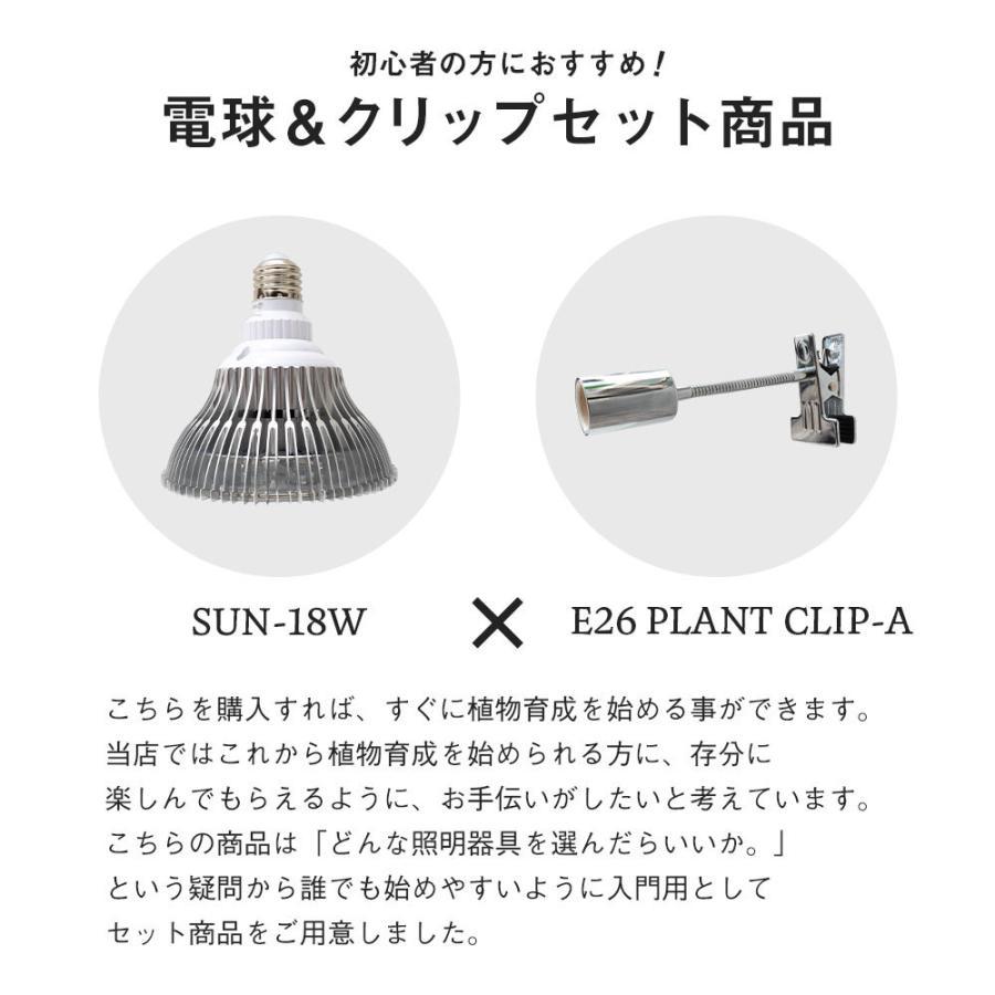 植物育成LED PlantLight18W 白色クリップタイプ(SUN-18W)+(プラントクリップA)観葉植物 植物栽培ライト|shopbarrel|04
