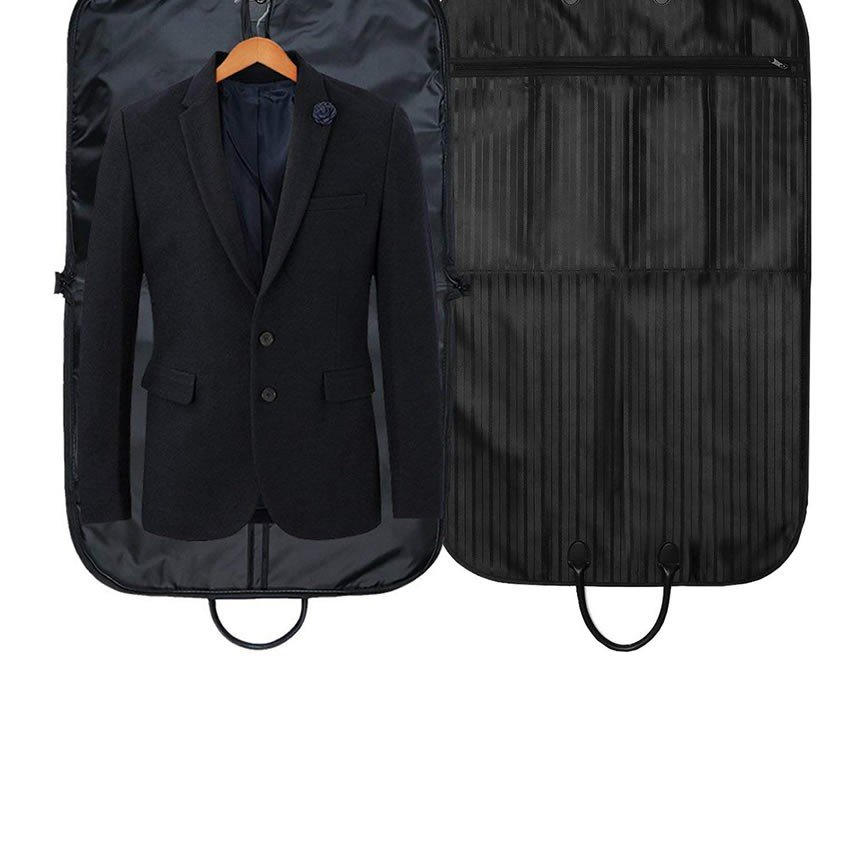 エグゼクティブケース ブラック スーツカバー 持ち運び ガーメントバッグ 衣類 収納 シワ防止 大容量 防水防塵 軽量 男女兼用 EXEBAG-BK|shopeast|07