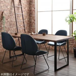 ダイニングセット 5点セット(テーブル+チェア4脚) W180 天然木 ウォールナット無垢材 ヴィンテージデザイン