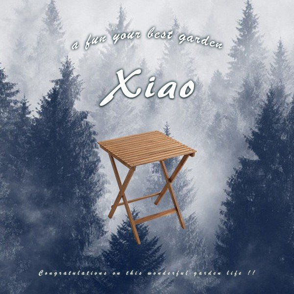 ガーデンテーブル 折りたたみ 木製 アカシア材 Xiao