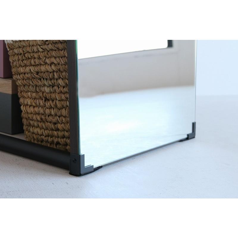 ハンガーラック 姿見 鏡 ミラー ウォールナット 天然木 スチール 収納家具 玄関収納 リビング収納 スタンドミラー 洋服掛け コートハンガー ワンピース|shopfamous|10
