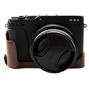 kinokoo FUJIFILM 富士フイルム X-E3 専用 カメラケース ボディケース バッテリーの交換でき (コーヒーA) shopkimagure