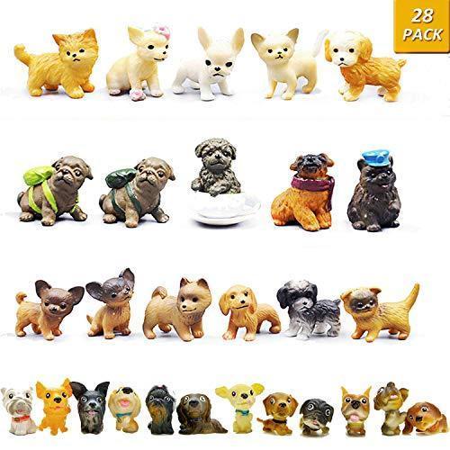 動物フィギュアセット 28個 ミニ犬 フィギュア おもちゃ 子犬おもちゃセット 小さい動物おもちゃ shopkimagure