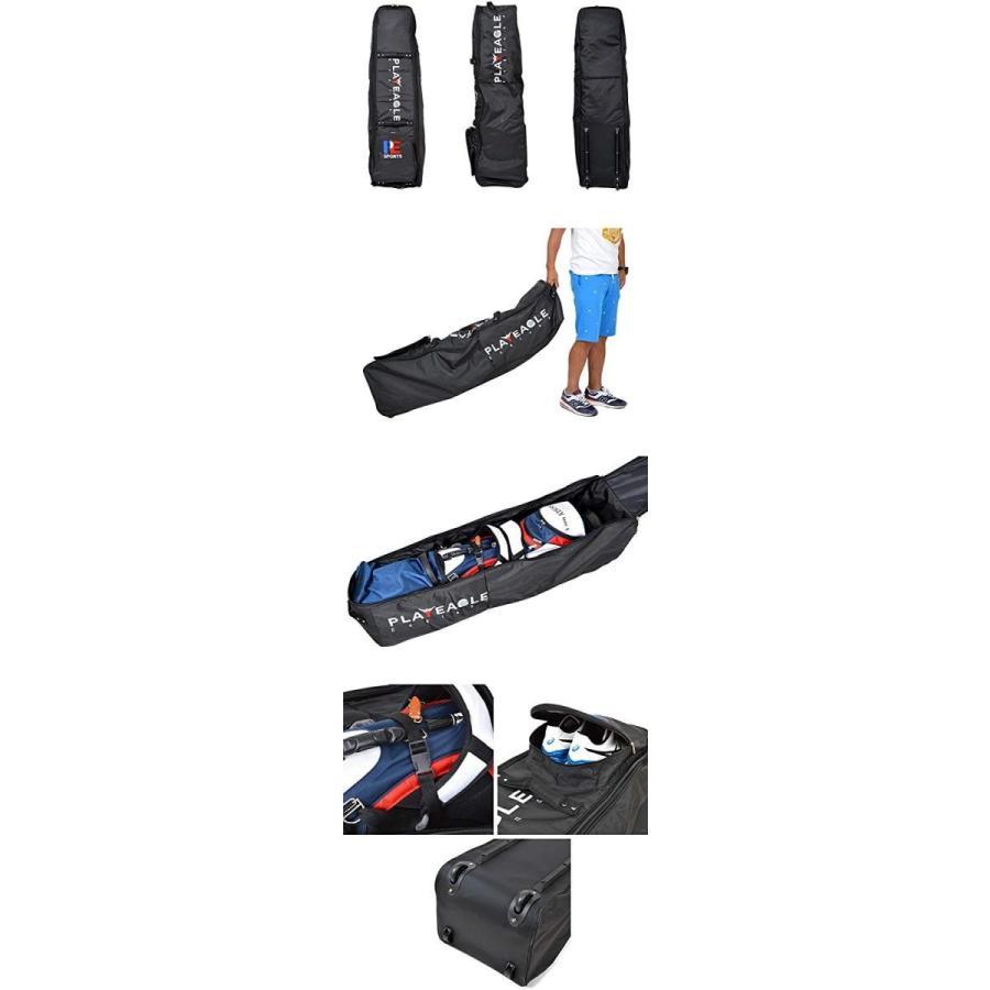コモンゴルフ COMON GOLF キャスター付き 厚手タイプ キャディバッグ トラベルバッグ IF-GF0008 ブラック