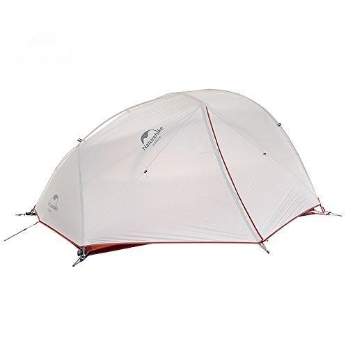 NatureHikeワンタッチテントキャンピングテント アウトドア二重層テント2人用 (NH15T012-T20D:グレー(Gray))
