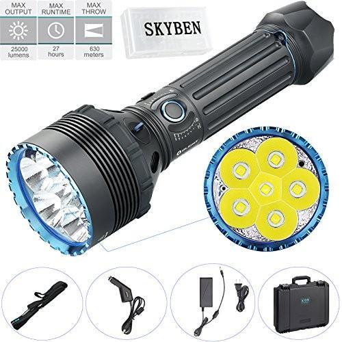 OLIGHT X9R MARAUDER 最大 25000ルーメン 高輝度 ハイ・パワー 充電式 LED懐中電灯・ 6 x Cree XHP7