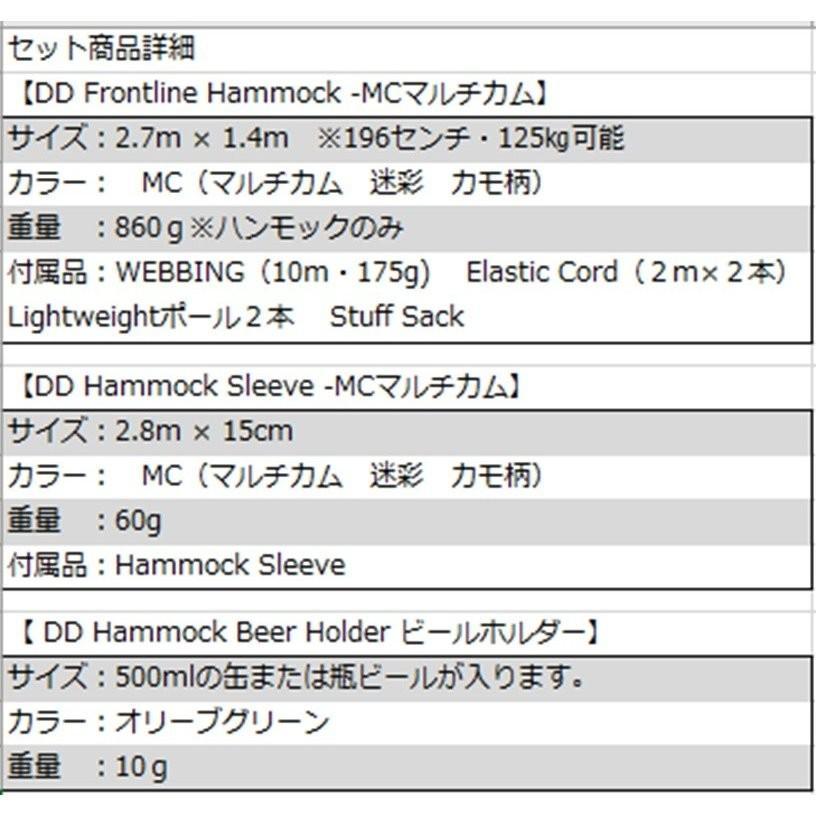 DDハンモック ハンモックキャンプ スタートアップ 8点セット フロントライン DDマルチカム セット|shopping-mu|06