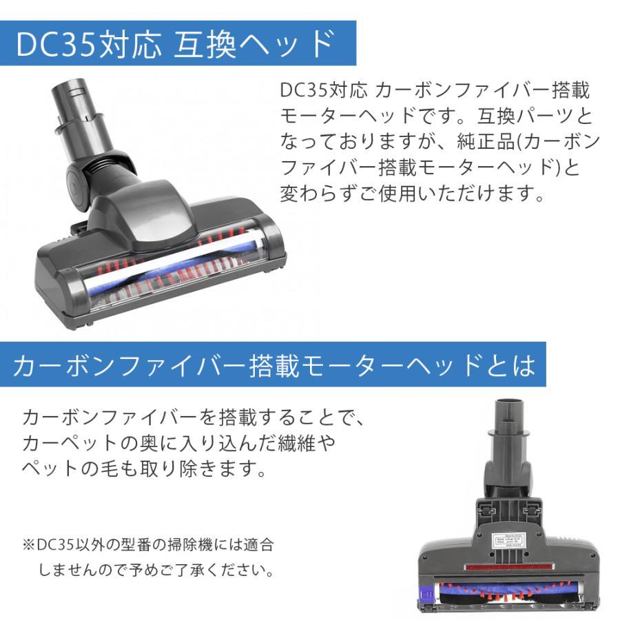 ダイソン Dyson カーボンファイバー搭載モーターヘッド DC35専用 互換品|shopping-mu|03