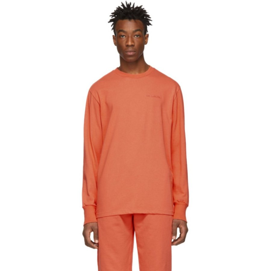 エイムレオンドレ aime-leon-dore オレンジ ロゴ ロング スリーブ T シャツ