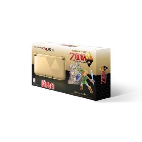 任天堂3DS XLゴールド/ブラック - ゼルダの伝説付き限 北米版 Nintendo 3DS XL ゴールド/黒 - Limited Edition Bundle with The