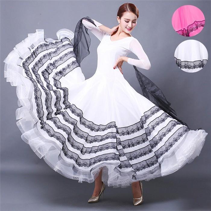 受注生産 社交ダンス ラテンドレス 長袖 ダンス ドレス 衣装 ステージ衣装 モダンダンス ダンスウエア 練習着 ワンピース ピンク ホワイト