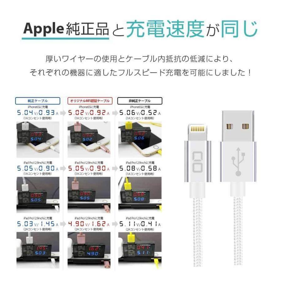 iphone 充電 純正品質 Apple MFi 認証品 充電器 lightning ケーブル コネクタ 2m 1m 50cm USB 頑丈 断線しにくい iPhone12 Pro Max mini ライトニング shops-of-the-town 10