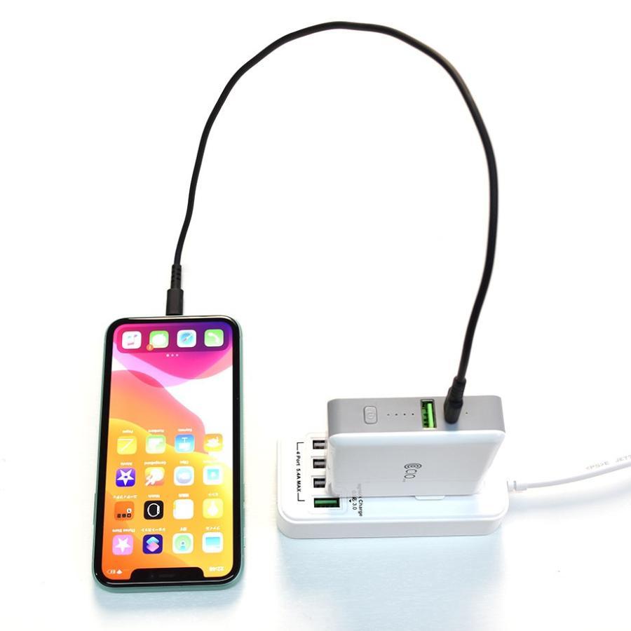モバイルバッテリー コンセント付 AC内蔵 qi ワイヤレス充電 タイプC 3A 2.4A 急速充電 2ポート 5200mAh 軽量 iPhone USB ACアダプター 充電器 置くだけ shops-of-the-town 09
