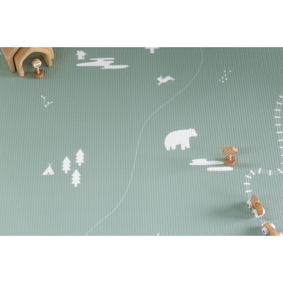 Little Wiwa正規品 高品質 TPUプレイマット 防音 防水 衝撃吸収 組み立て不要1.5cm厚 リバーシブルフロアマット [SMALL SIZE] shoptakaraya 05