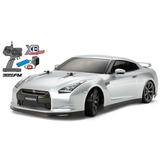 タミヤ☆1/10 RCカー XB NISSAN GT-R(TT-01Dシャーシ TYPE-E)ドリフトスペック 57801 組立て完成済みフルセット