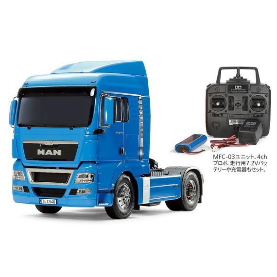 タミヤ☆1/14 RCビッグトラック MAN TGX 18.540 4×2 XLX(フレンチブルー)フルオペレーションセット(プロポ付) 56349