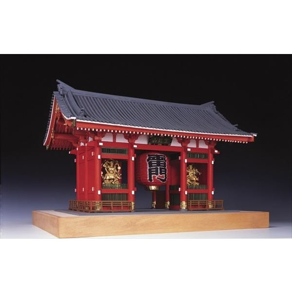 ウッディジョー☆木製建築模型 1/50 浅草寺 雷門 塗装タイプ【4560134352322】