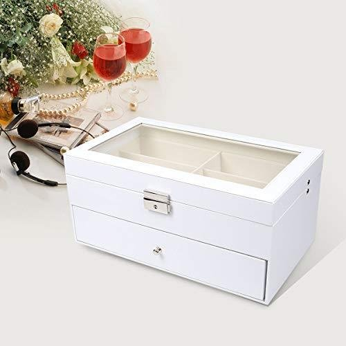 Goetland 眼鏡 メガネ サングラス 収納 ケース ボックス コレクション 展示用 ガラス天板 大容量 12本(二段式)|shopwin-win|04