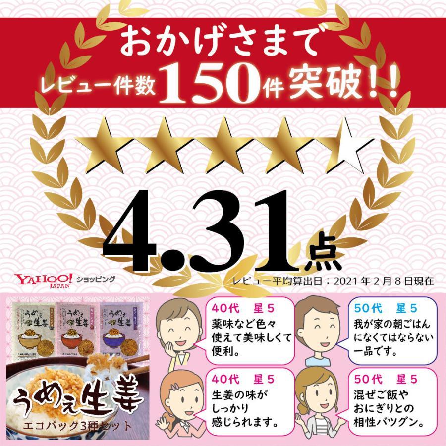 うめぇ生姜エコパック(鰹しそ梅)135g 3種セット ゆうパケット送料無料|shougakoubou|02