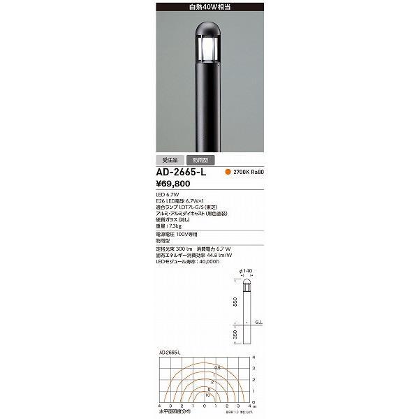 山田照明 照明器具 激安 AD-2665-L ガーデンライト(yamada)