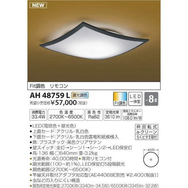 AH48759L コイズミ照明 照明器具 和風照明 和風照明 和風照明 KOIZUMI_直送品1_ 288