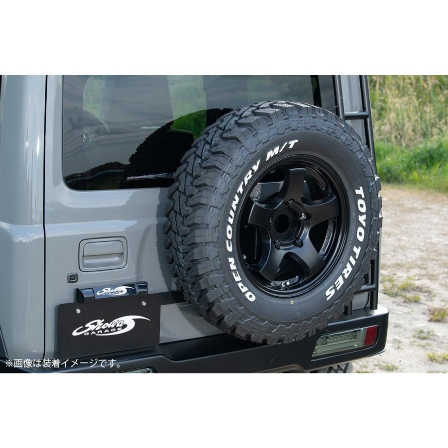 車検対応品 スペアタイヤ移動ブラケット 表向き JB64用|showa-garage|04