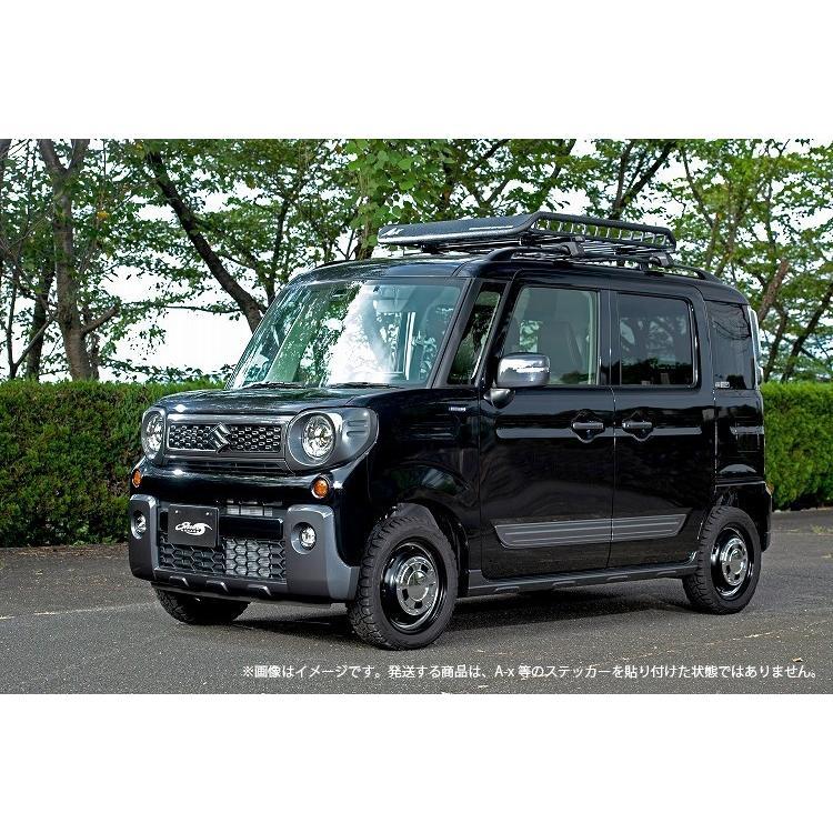 Mサイズ ブラック A-X(エークロス)シリーズ アルミ製ルーフラック |showa-garage|16