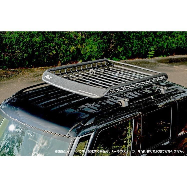Mサイズ ブラック A-X(エークロス)シリーズ アルミ製ルーフラック |showa-garage|17
