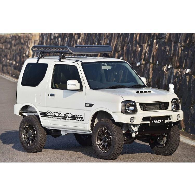 Mサイズ ブラック A-X(エークロス)シリーズ アルミ製ルーフラック |showa-garage|06