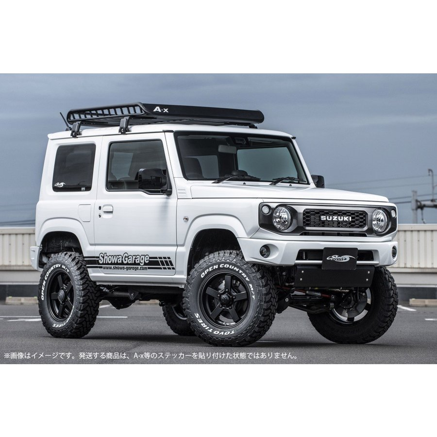 Mサイズスーパーワイドフット付き ブラック A-X(エークロス)シリーズ アルミ製ルーフラック|showa-garage|04