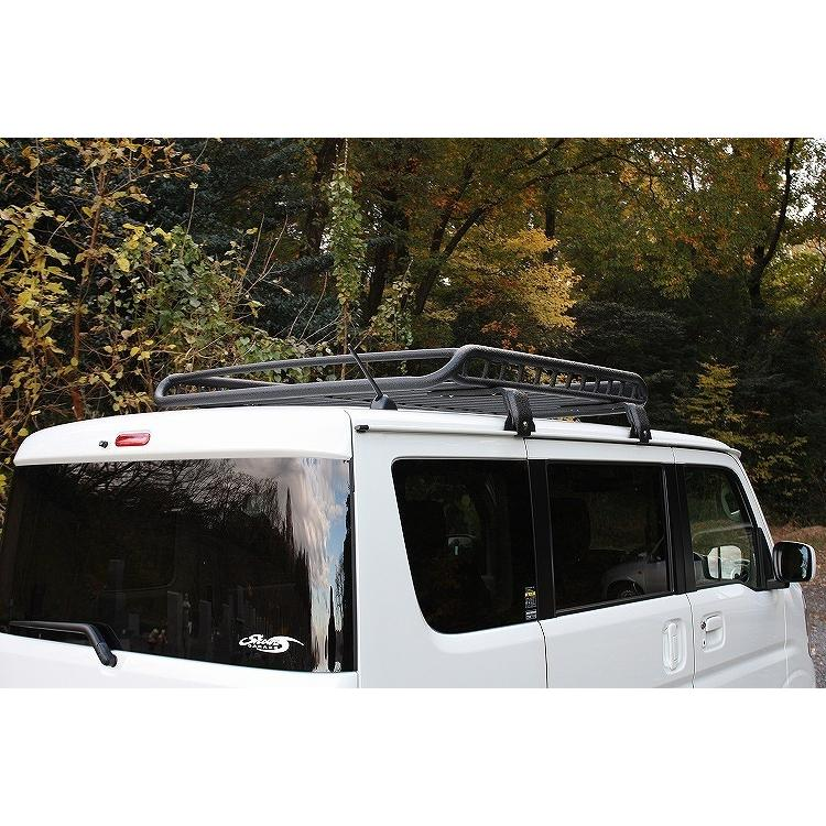 Mサイズスーパーワイドフット付き ブラック A-X(エークロス)シリーズ アルミ製ルーフラック|showa-garage|07