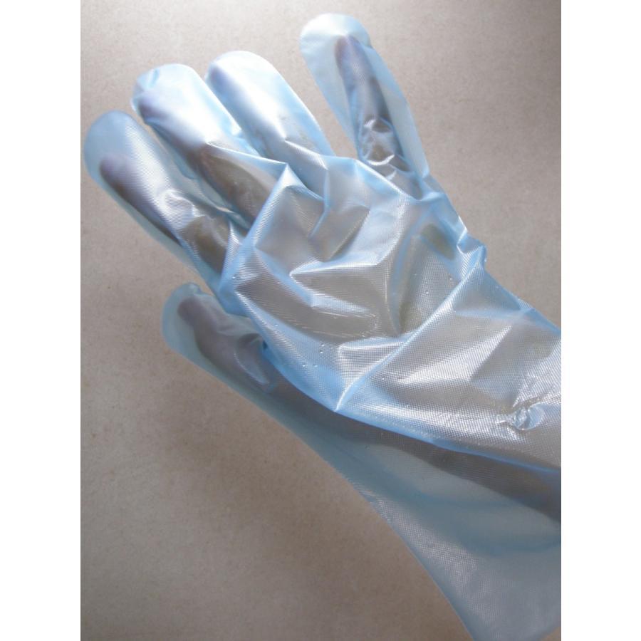 使い捨て手袋 業務用 安い 【CPEエンボス手袋 (M) ブルー】200枚x40パック/ケース|showa-shokai|03
