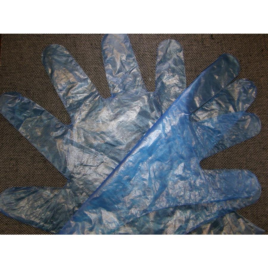 使い捨て手袋 業務用 安い 【HDポリエチレン手袋 (M) ブルー】200枚x40パック/ケース|showa-shokai|04