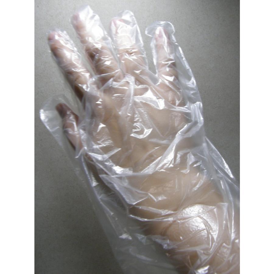 使い捨て手袋 業務用 安い 【HDポリエチレン手袋 (L) 透明】200枚x40パック/ケース showa-shokai 03